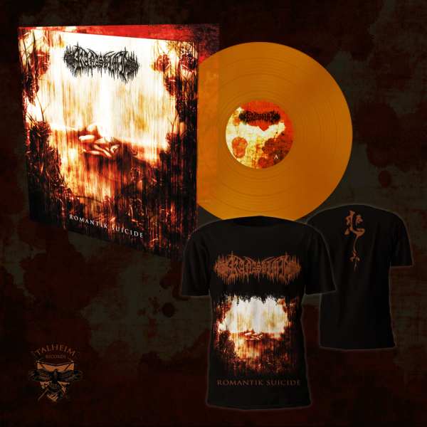 TR009BL Kanashimi - Romantik Suicide LP Gatefold (Transparent Orange) + T-Shirt Presentation